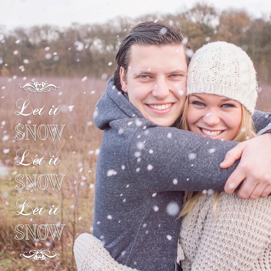 loveshoot winter let it snow mander sneeuw