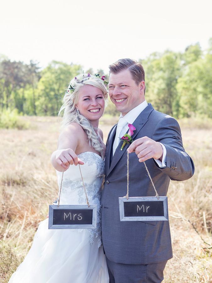 vintage wedding mrs en mr bij hondenven tubbergen