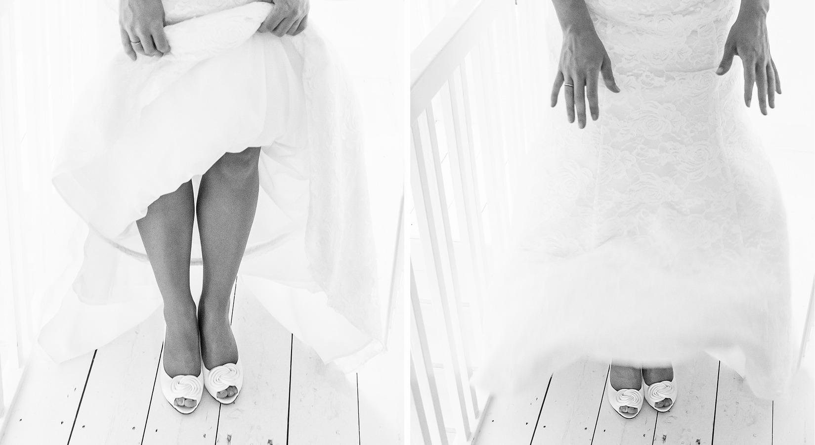 vintage trouwschoenen aankleden jurk oldenzaal